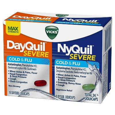 Vicks DayQuil & NyQuil Severe Cold & Flu Relief Liquicaps ...