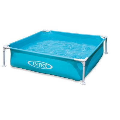 Intex 57173Ep Mini Frame Kiddie 4 X 4 Foot Beginner Frame Swimming Pool, Blue