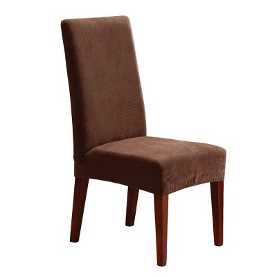 stretch dining chair covers barcelona chairs pique short slipcover sure fit target