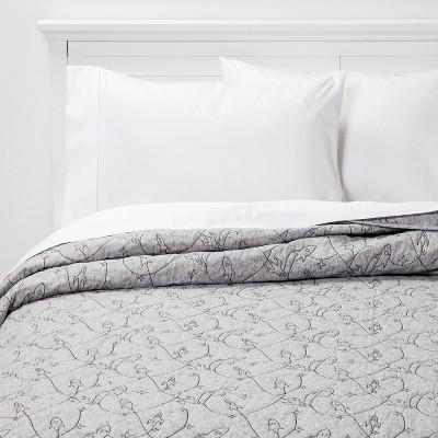 Rocket Heathered Cotton Quilt Gray - Pillowfort™