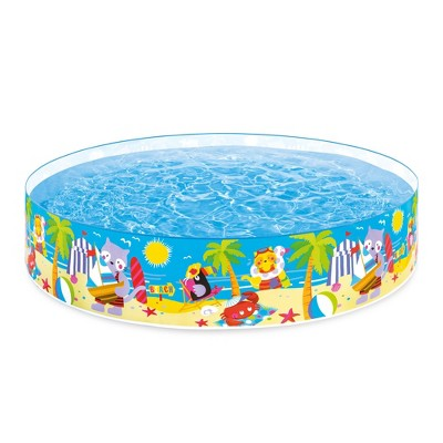 Intex 58457Ep Snapset Kiddie 8 X 8 Foot Instant Swimming Pool, Seashore Buddies