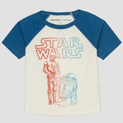 Toddler Boys' Junk Food Star Wars Short Sleeve Graphic T-Shirt - White