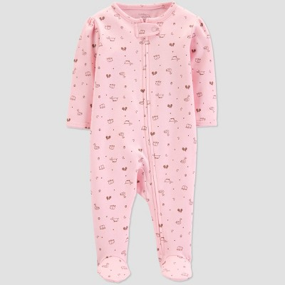 Little Planet Organic by carter's Baby Girls' Footed Sleeper - Pink