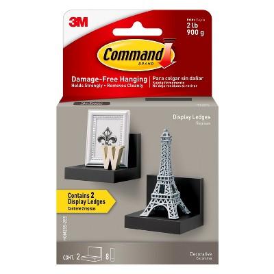 3M Command 2 Display Ledges Black