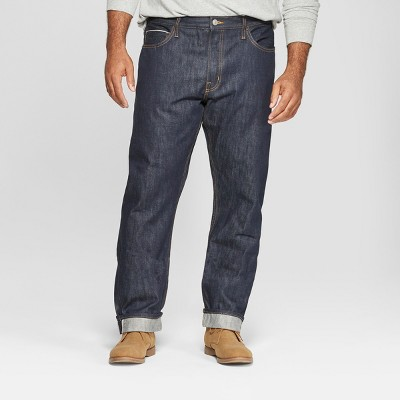 Men's Tall Slim Fit Selvedge Denim Jeans - Goodfellow & Co™ Dark Rinse
