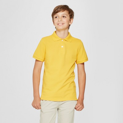 Boys' Short Sleeve Pique Uniform Polo Shirt - Cat & Jack™