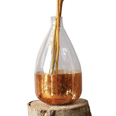"""Round Glass Balloon Vase - Antique Copper (8"""")"""