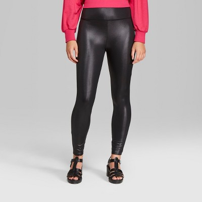 Women's Faux Leather High-Rise Leggings - Wild Fable™