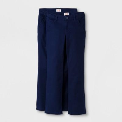 Girls' 2pc Bootcut Twill Uniform Chino Pants - Cat & Jack™
