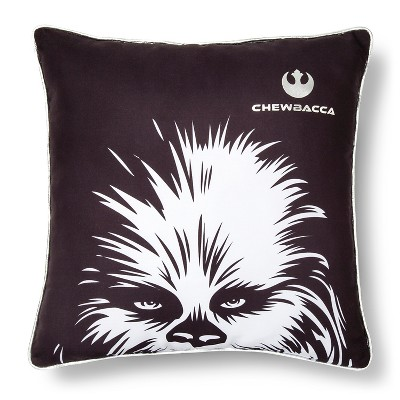 "Chewbaca Face Pillow (15""x15"") Black - Star Wars Rebels®"