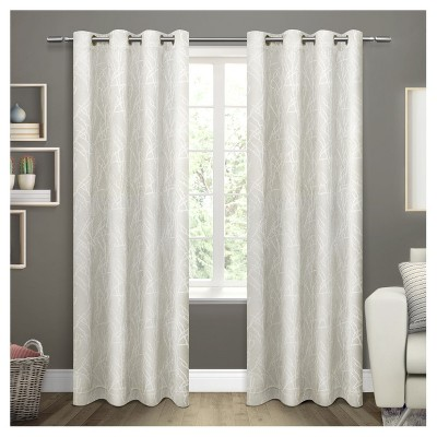 Twig Insulated Woven Blackout Grommet Top Window Curtain Panel -  Exclusive Home™
