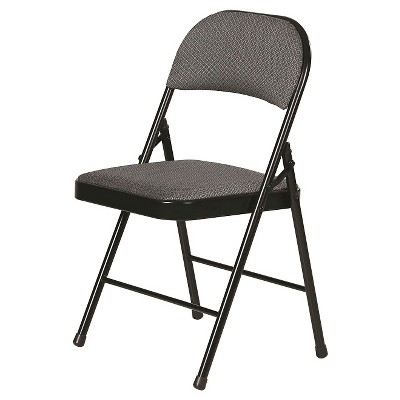 black padded folding chairs boon high chair fabric gray 4 pack plastic dev group target about this item