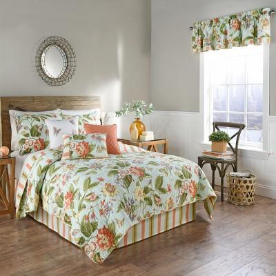 3pc twin floral laurel springs reversible quilt set waverly