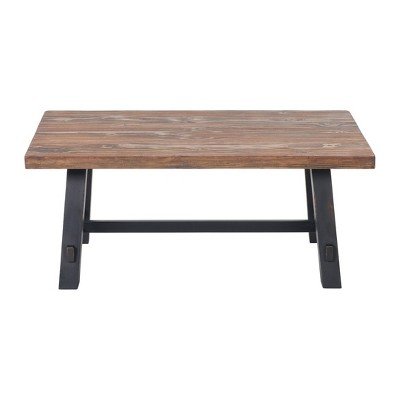 42 odin solid wood coffee table black alaterre furniture