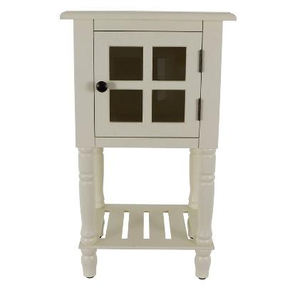 james window storage side table white decor therapy