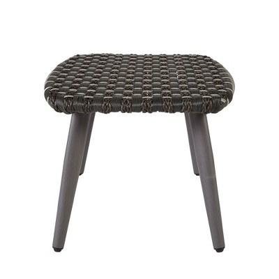 resin wicker chair with ottoman eames molded plastic laporte outdoor basketweave target