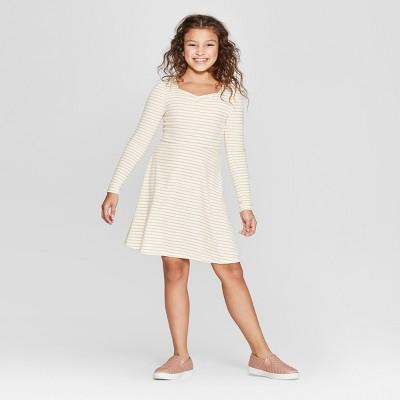 Girls' Stripe Skater Dress - art class™