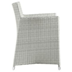 White Resin Wicker Chairs Hawaii Chair Junction Armchair Outdoor Patio Set Of 2 In Gray 1 More