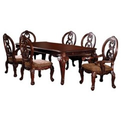 Antique French Dining Table And Chairs Conference Room Sun Pine 7pc Elegant Carved Style Set Wood Cherry Target