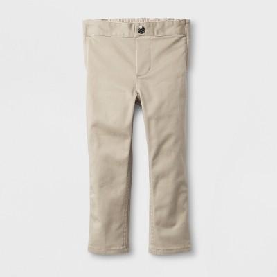 Toddler Boys' Adaptive Uniform Chino Pants - Cat & Jack™ Khaki