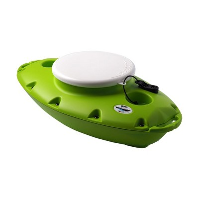 Creekkooler Pup Portable Floating Insulated 15 Qt Kayak Beverage Cooler, Green