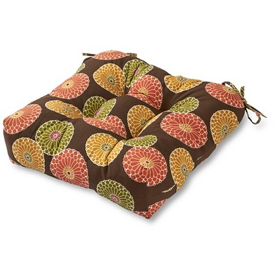 patio chair pads folding no back outdoor cushion flowers on chocolate greendale home fashions target