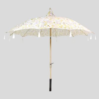 floral pagoda patio umbrella