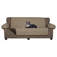 Target Sofa Loveseat Covers Manhattan Pottery Barn Chocolate Reversible Pet Cover Microfiber Slipcover Maytex