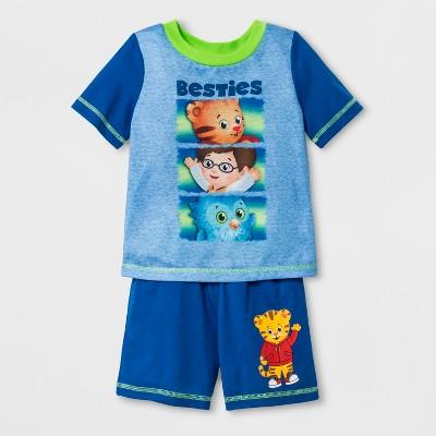Toddler Boys' Daniel Tiger 2pc Short Sleeve Poly Pajama Set - Blue