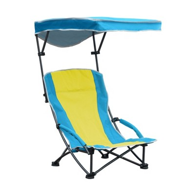 low back lawn chair target plaid wingback pro comfort shade folding blue yellow