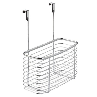 "InterDesign Axis Over-the-Cabinet Storage Basket 14"" Chrome"
