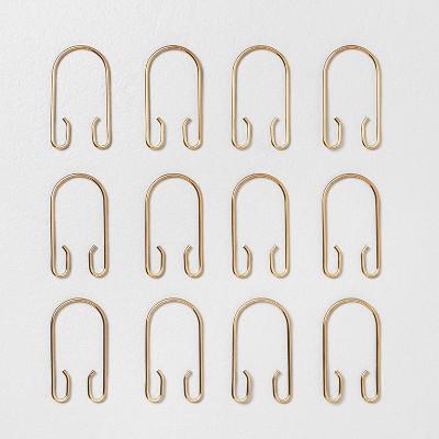 brass shower curtain hooks target