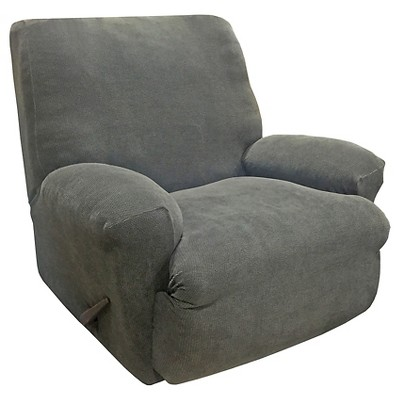 target stretch chair covers computer back oxford recliner slipcover gray sure fit about this item