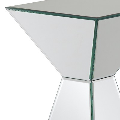 mirrored pyramid living room accent side end table ideas with gray walls queen size bed