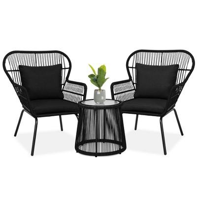 black patio furniture sets target