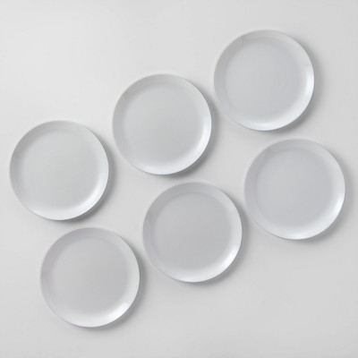 """Glass Dinner Plate 10.7"""" White - Made By Design™"""