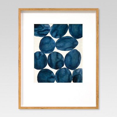 framed watercolor abstract blue