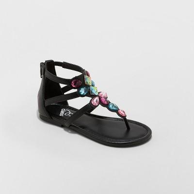 Girls' Leia Embellished Ankle Strap Sandals - art class™ Black