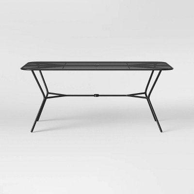 bangor 6 person rectangle patio dining table black project 62