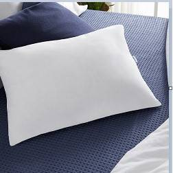 2 in 1 reversible gel foam and fiber pillow white