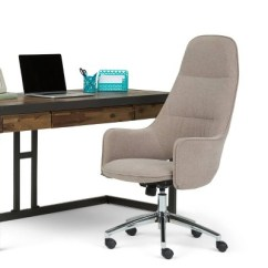 Zara Swivel Chair Hollywood Director Specter Large Office Taupe Micro Fiber Fabric Wyndenhall Target
