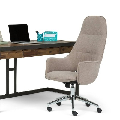 zara swivel chair ashley furniture counter height table and chairs specter large office taupe micro fiber fabric wyndenhall target