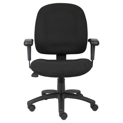 office chair with adjustable arms tell city chairs 4620 fabric task black boss products 3 more