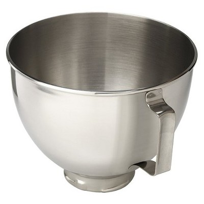kitchen aid bowls tile floors kitchenaid 4 5 quart polished stainless steel mixer bowl with handle about this item