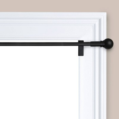 48 84 twist and shout easy install curtain rod matte black room essentials