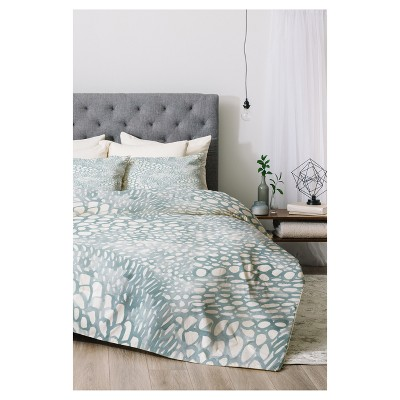 Blue Dash and Ash Cove Comforter Set (Twin XL) 2pc - Deny Designs®