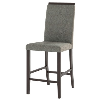 upholstered counter height chairs banquet chair cover hire bistro dining wood pewter gray set of 2 corliving target