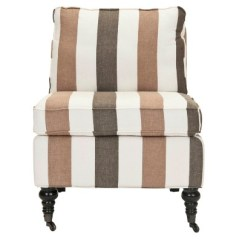 Brown Slipper Chair Pottery Barn Slipcover Reviews Serafina Stripes Safavieh Target