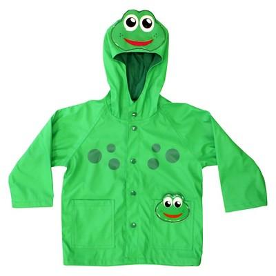 Toddler Boy Frog Rain Coat Green - Western Chief