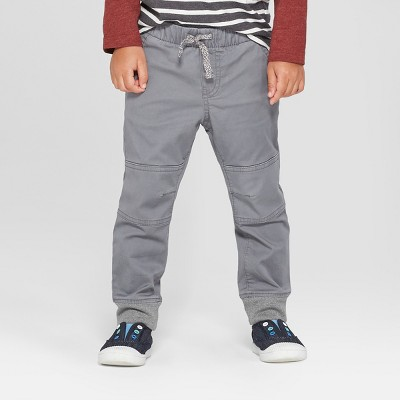 Toddler Boys' Reinforced Knee Jogger Fit Pull-On Pants - Cat & Jack™ Gray